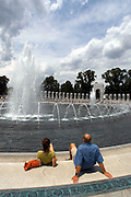 June 2, 2004 Washington, D.C. WWII Memorial..Tourist enjoy the views at the WWII Memorial ..(C )2004 Sandy Schaeffer/MAI