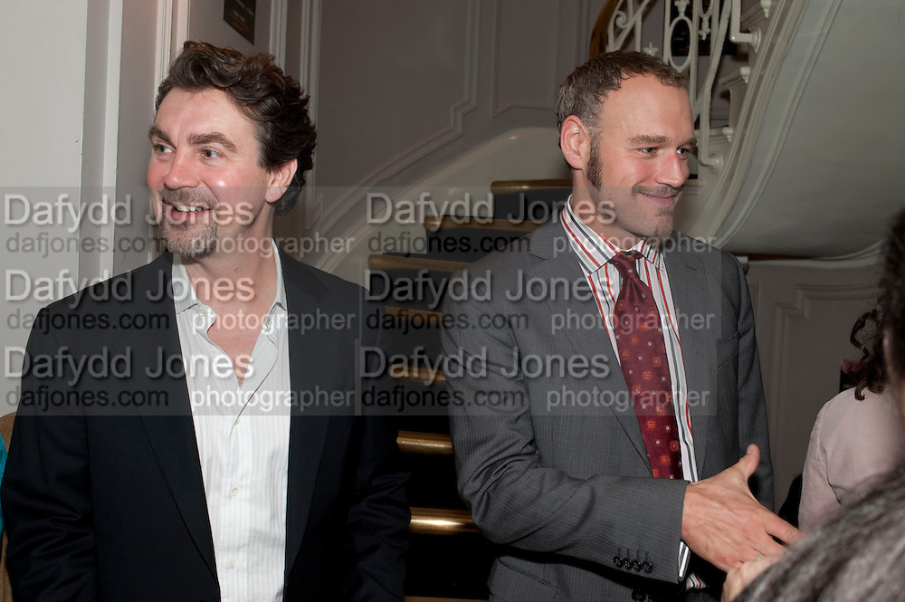 ALEX HANSON; ELLIOT GOWAN, First night for 'An Ideal Husband' by Oscar Wilde ÐThe play opened at The Vaudeville Theatre with a party after  Kettners, Soho. 10 November 2010. . -DO NOT ARCHIVE-© Copyright Photograph by Dafydd Jones. 248 Clapham Rd. London SW9 0PZ. Tel 0207 820 0771. www.dafjones.com.<br /> ALEX HANSON; ELLIOT GOWAN, First night for 'An Ideal Husband' by Oscar Wilde –The play opened at The Vaudeville Theatre with a party after  Kettners, Soho. 10 November 2010. . -DO NOT ARCHIVE-© Copyright Photograph by Dafydd Jones. 248 Clapham Rd. London SW9 0PZ. Tel 0207 820 0771. www.dafjones.com.