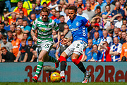 James Tavernier (C) of Rangers FC during the Ladbrokes Scottish Premiership match between Rangers and Celtic at Ibrox, Glasgow, Scotland on 12 May 2019.