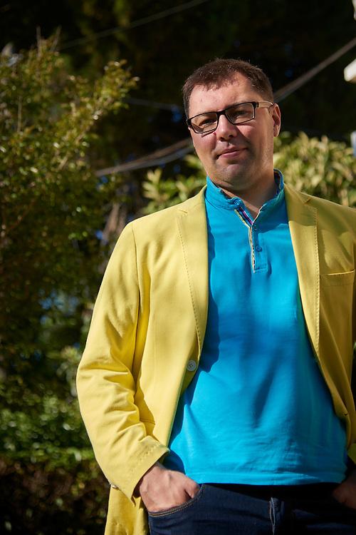 Lisboa, 13/07/2016 - Oleksii Makeiev, diretor pol&iacute;tico do Minist&eacute;rio dos Neg&oacute;cios Estrangeiros da Ucr&acirc;nia, fala sobre os desafios geopoliticos que o seu pa&iacute;s enfrenta<br /> (Paulo Alexandrino / Global Imagens)