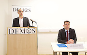 Andy Burnham MP and Luciana Berger MP speech to launch Labour&rsquo;s public health policy at Demos, London, Great Britain <br /> 15th January 2015 <br /> <br /> Duncan O'Leary - Demos <br /> <br /> Andy Burnham MP <br /> shadow Labour Health Minister <br /> <br /> <br /> <br /> <br /> <br /> Photograph by Elliott Franks <br /> Image licensed to Elliott Franks Photography Services