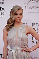 Actress Natalie Dormer at the IFTA Film & Drama Awards (The Irish Film & Television Academy) at the Mansion House in Dublin, Ireland, Saturday 9th April 2016. Photographer: Doreen Kennedy