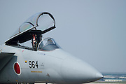 A Japanese Air Self-Defense Force Mitsubishi / McDonnell Douglas F-15J Eagle on display at the Komaki Airshow.