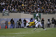 Oct 24, 2009; East Lansing, MI, USA; \ during the third fourth quarter against \ at Spartan Stadium. The Hawkeyes beat the Spartans 15-13. Mandatory Credit: Jason Miller-US PRESSWIRE