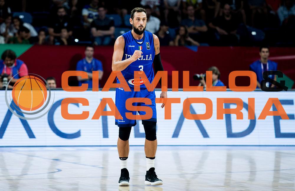 Marco Belinelli<br /> Nazionale Italiana Maschile Senior<br /> Eurobasket 2017 - Final Phase - Round of 16<br /> Finlandia Italia Finland Italy<br /> FIP 2017<br /> Istanbul, 09/09/2017<br /> Foto GiulioCiamillo / Ciamillo - Castoria\