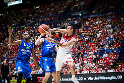 May 26, 2018 - Milan, Milan, Italy - Andrea Cinciarini (#20 EA7 Emporio Armani Milano) looks for a pass during a basketball game of Poste Mobile Playoff Lega Basket A between  EA7 Emporio Armani Milano vs Germani Basket Brescia at Mediolanum Forum, in Milan, Italy, on 26 May 2018. (Credit Image: © Roberto Finizio/NurPhoto via ZUMA Press)