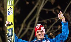06.01.2014, Paul Ausserleitner Schanze, Bischofshofen, AUT, FIS Ski Sprung Weltcup, 62. Vierschanzentournee, Bischofshofen, Siegerpraesentation, im Bild Thomas Morgenstern (AUT, 2 Platz) // Thomas Morgenstern of Austria celebrate on Podium after Competition of 62 nd Four Hills Tournament of FIS Ski Jumping World Cup at the Paul Ausserleitner Schanze in Bischofshofen Austria on 2014/01/06. EXPA Pictures © 2014, PhotoCredit: EXPA/ JFK
