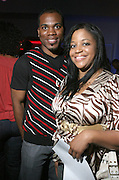 l to r: Justin Holmes and Nina Holmes at The 2008 Urbanworld Film Festival and BET Networks Afterparty saluting Fashion & Film at Espace on September 13, 2008