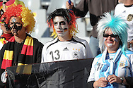 CAPE TOWN, SOUTH AFRICA- Saturday 3 July 2010, German and Argentinian fans during the quarter final match between Argentina and Germany held at the Cape Town Stadium in Green Point during the 2010 FIFA World Cup..Photo by Roger Sedres/Image SA