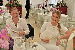 Sam Sangster and Lady Kitty Spencer at Cartier Queen's Cup Polo, Guard's Polo Club, Berkshire, England. 18 June 2017.<br /> Photo by Dominic O'Neill/SilverHub 0203 174 1069 sales@silverhubmedia.com