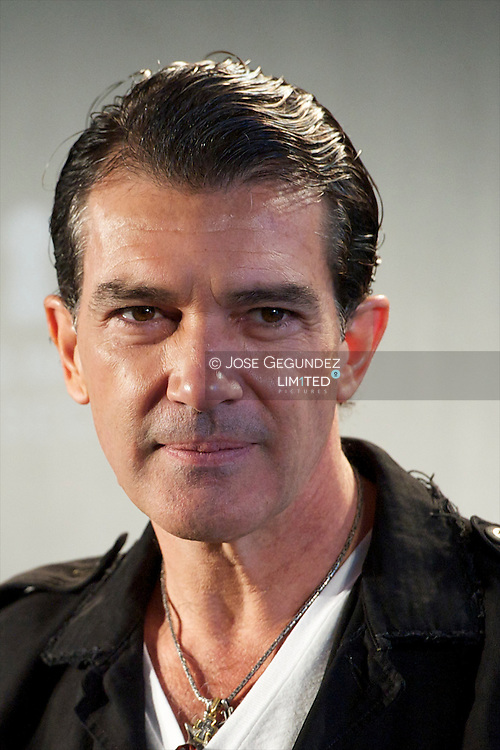 Antonio Banderas during the introduction of Antonio Banderas' new fragrance, 'The Secret at Palace Hotel in Madrid