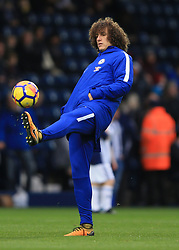 18 November 2017 -  Premier League - West Bromwich Albion v Chelsea - David Luiz of Chelsea warms up hands in pockets - Photo: Marc Atkins/Offside
