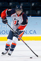 KELOWNA, CANADA - NOVEMBER 30: Nick Chyzowski LW #16 of the Kamloops Blazers skates with the puck during warm up against the Kelowna Rockets on November 30, 2013 at Prospera Place in Kelowna, British Columbia, Canada.   (Photo by Marissa Baecker/Shoot the Breeze)  ***  Local Caption  ***