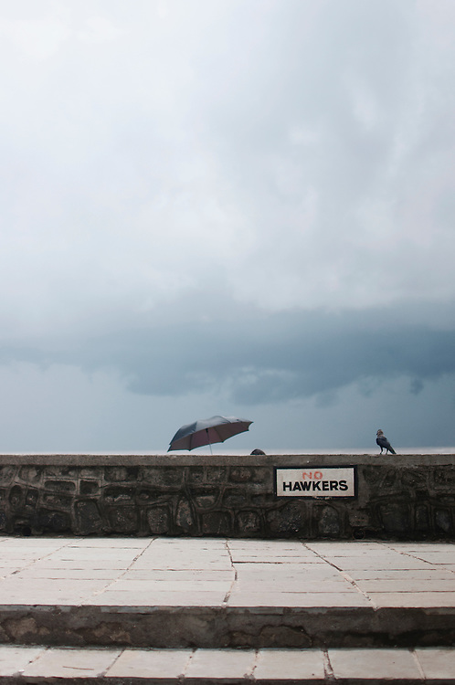 A couple finds a spot for themselves at Bandstand.