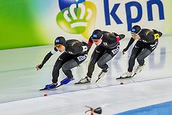 10-11-2017 NED: ISU World Cup, Heerenveen<br /> Team Pursuit women, Japan M  Takagi,  A  Sato,  N  Takagi,  A  Kikuchi,