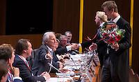 UTRECHT - Delftse Studenten met hun jaarlijks verschijnen.  Algemene Ledenvergadering  KNHB bij de Rabobank in Utrecht. . COPYRIGHT KOEN SUYK