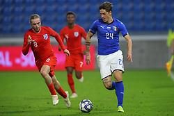 NICOLO ZANIOLO (ITALY) VS TOM DAVIES (ENGLAND)     <br /> Football friendly match Italy vs England u21<br /> Ferrara Italy November 15, 2018<br /> Photo by Filippo Rubin