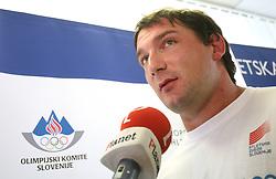 Primoz Kozmus at press conference of Slovenian National Team before Athletics World Championships in Berlin,  on August 10, 2009, in Ljubljana, Slovenia. (Photo by Vid Ponikvar / Sportida)