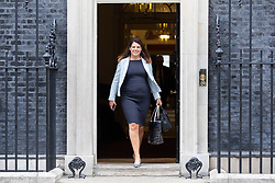 © Licensed to London News Pictures. 04/09/2018. London, UK. Minister of State for Immigration Caroline Nokes leaves  Downing Street after attending a Cabinet meeting this morning. Photo credit : Tom Nicholson/LNP