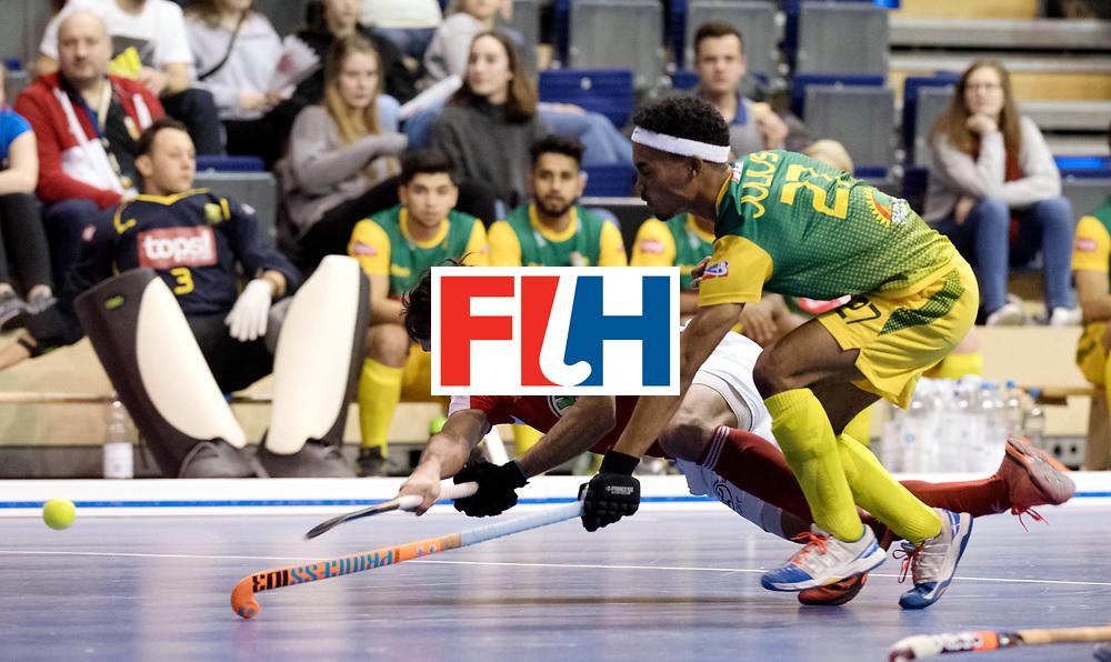 BERLIN - Indoor Hockey World Cup<br /> Men: Austria - South Africa<br /> foto: Benjamin Stanzl.<br /> WORLDSPORTPICS COPYRIGHT FRANK UIJLENBROEK
