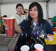 Every Year in June, almost a million people celebrates Japan Day in Düsseldorf, together with the city's Japanese expatriat community which is the biggest in Germany. Delicious Kirin beer.