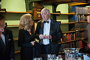 LADY WOLFSON; SIR TIM RICE; , The London Library Annual  Life in Literature Award 2013 sponsored by Heywood Hill. The London Library Annual Literary dinner. London Library. St. james's Sq. London. 16 May 2013.