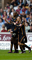 Fotball<br /> England 2005/2006<br /> Foto: SBI/Digitalsport<br /> NORWAY ONLY<br /> <br /> Wolverhampton Wanderers v Aston Villa<br /> Pre Season Friendly.<br /> 30/07/2005.<br /> <br /> Wolves' Carl Cort (L) celebrates his goal.