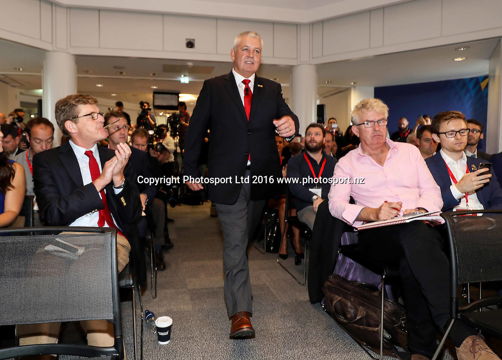 Warren Gatland Appointed Lions Coach, Standard Life House, Edinburgh, Scotland 7/9/2016<br />