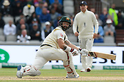 Matthew Wade of Australia batting during the International Test Match 2019, fourth test, day two match between England and Australia at Old Trafford, Manchester, England on 5 September 2019.