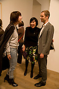ANNA BLESSMAN, ALICE RAWTHORN AND STUART COMER, Opening of Street & Studio exhibition at Tate Modern on Tuesday 20 May 2008.  *** Local Caption *** -DO NOT ARCHIVE-© Copyright Photograph by Dafydd Jones. 248 Clapham Rd. London SW9 0PZ. Tel 0207 820 0771. www.dafjones.com.