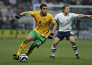 Preston - Saturday February 14th, 2009: Paul McKenna of Preston North End and Darel Russell of Norwich City during the Coca Cola Championship match at Deepdale, Preston. (Pic by Michael Sedgwick/Focus Images)
