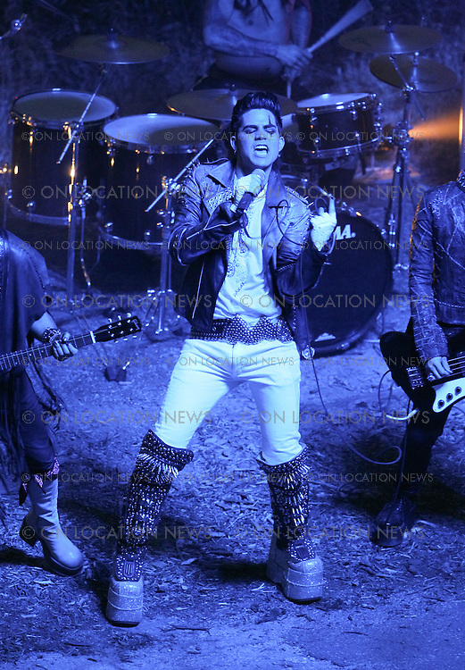 "May 13th 2010. Los Angeles, California. ***EXCLUSIVE*** Adam Lambert and his band filming a music video for ""If I Had You"" in Griffith Park. Photo by Eric Ford/ On Location News. 818-613-3955 info@onlocationnews.com"