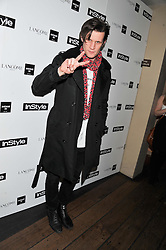 MATT SMITH at the InStyle Best of British Talent Event in association with Lancôme and Avenue 32 held at The Rooftop Restaurant, Shoreditch House, Ebor Street, London E1 on 30th January 2013.