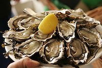 Baron Rouge wine bar in Paris..oysters served during the winter........