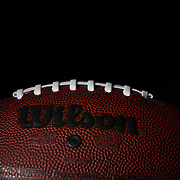 A studio shot of a modern recreational Wilson American Football ball. 17th October 2012. Photo Tim Clayton