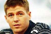 Photo: Chris Ratcliffe.<br /> <br /> England Press Conference. 08/06/2006.<br /> <br /> Steven Gerrard addresses the media.