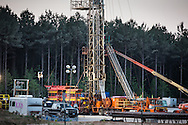 May, 25, 2014, Amite County, MS, Goodrich  well with a rig in operation. This hydraulic fracturing site in the Tuscaloosa shale region is one over a dozen exploratory wells that are being built and utilized Louisiana and Mississippi.