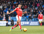 Swindon defender Nathan Thompson in action during the Sky Bet League 1 match between Gillingham and Swindon Town at the MEMS Priestfield Stadium, Gillingham, England on 6 February 2016. Photo by David Charbit.