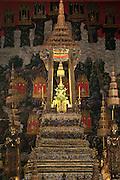 The Emerald Buddha in Wat Phra Kaew Buddhist temple at The Grand Palace; Bangkok, Thailand.