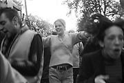 Ravers protesting in the streets, 3rd Criminal Justice March, London, 9th of October, 1994