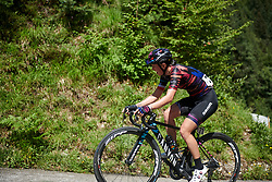 Kasia Niewiadoma (POL) on Monte Zoncolan at Giro Rosa 2018 - Stage 9, a 104.7 km road race from Tricesimo to Monte Zoncolan, Italy on July 14, 2018. Photo by Sean Robinson/velofocus.com
