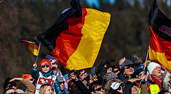 29.01.2017, Casino Arena, Seefeld, AUT, FIS Weltcup Nordische Kombination, Seefeld Triple, Skisprung, im Bild Deutsche Zuschauer mit der Bundesfahne // German Spectators with Flags during the Competition Jump of Skijumping of the FIS Nordic Combined World Cup Seefeld Triple at the Casino Arena in Seefeld, Austria on 2017/01/29. EXPA Pictures © 2017, PhotoCredit: EXPA/ JFK