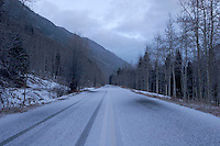 Maroon Creek Road After Winter Storm, White River National Forest, Colorado