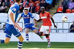 Ian Henderson of Rochdale fires a shot at goal   - Mandatory byline: Matt McNulty/JMP - 07966386802 - 15/08/2015 - FOOTBALL - Bloomfield Road -Blackpool,England - Blackpool v Rochdale AFC - Sky Bet League One