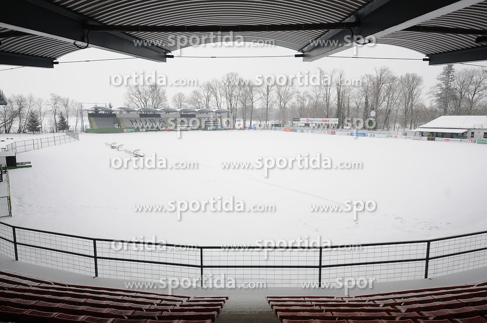 View on the football field on February 22, 2013 in Fazanerija, Murska Sobota, Slovenia. (Photo by Ales Cipot / Sportida)