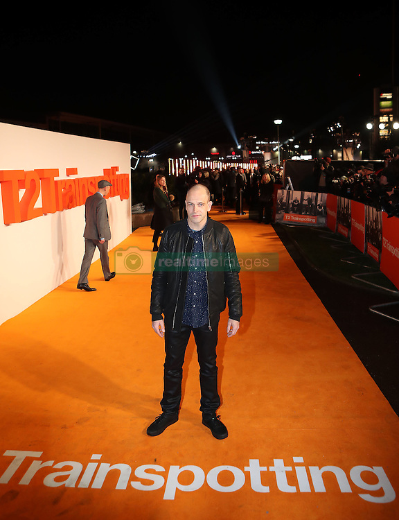 Jonny Lee Miller arriving at the world premiere of Trainspotting 2 at Cineworld in Edinburgh.