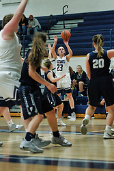 13 December 2018:  Fieldcrest Knights v Ridgeview Mustangs in the gym at Ridgeview High School in Colfax IL