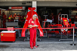July 19, 2018 - Hockenheim, Germany - Motorsports: FIA Formula One World Championship 2018, Grand Prix of Germany, ..Garage of Scuderia Ferrari  (Credit Image: © Hoch Zwei via ZUMA Wire)