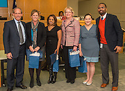 Houston ISD trustee Greg Meyers recognizes staff of Shadowbriar Elementary School during the Board of Education meeting, November 13, 2014.
