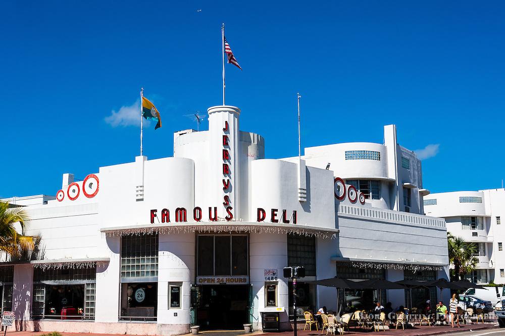 US, Florida, Miami Beach. Art Deco, Jerry's Famous Deli.